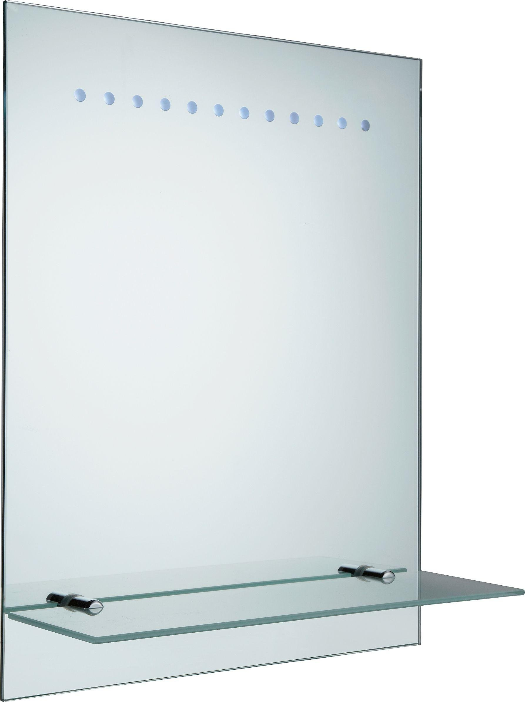 HOME Rec Frosted Illuminated Bathroom Mirror