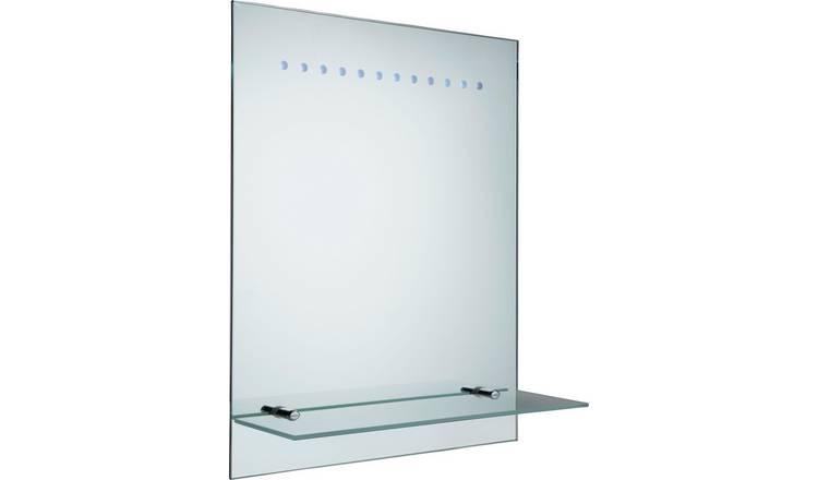 online store be68e d1aea Buy Argos Home Rec Frosted Illuminated Bathroom Mirror | Mirrors | Argos