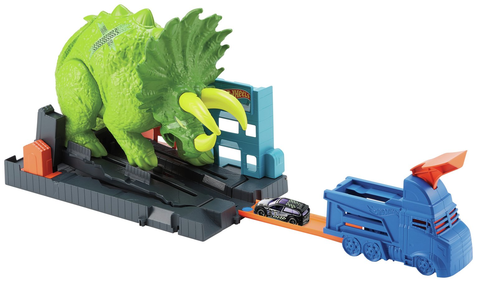 Hot Wheels Triceratops Playset with Launcher Vehicle