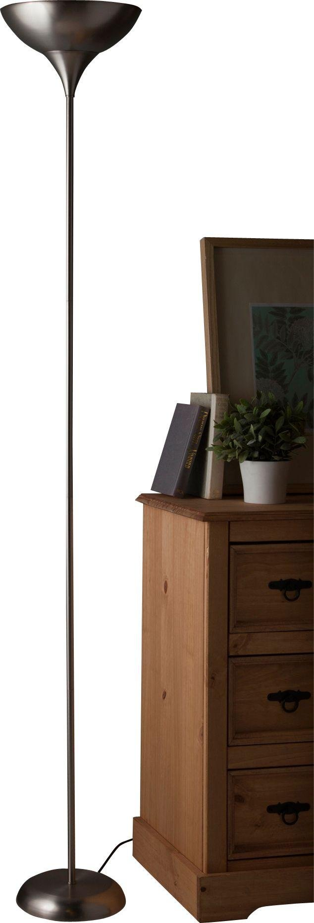 Uplighter floor lamps argos buy home torchiere uplighter floor lamp brushed chrome