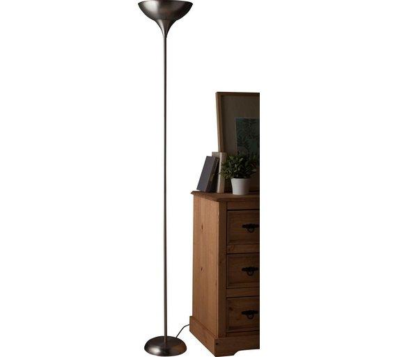 Uplighter floor lamps argos buy home torchiere uplighter floor lamp brushed chrome