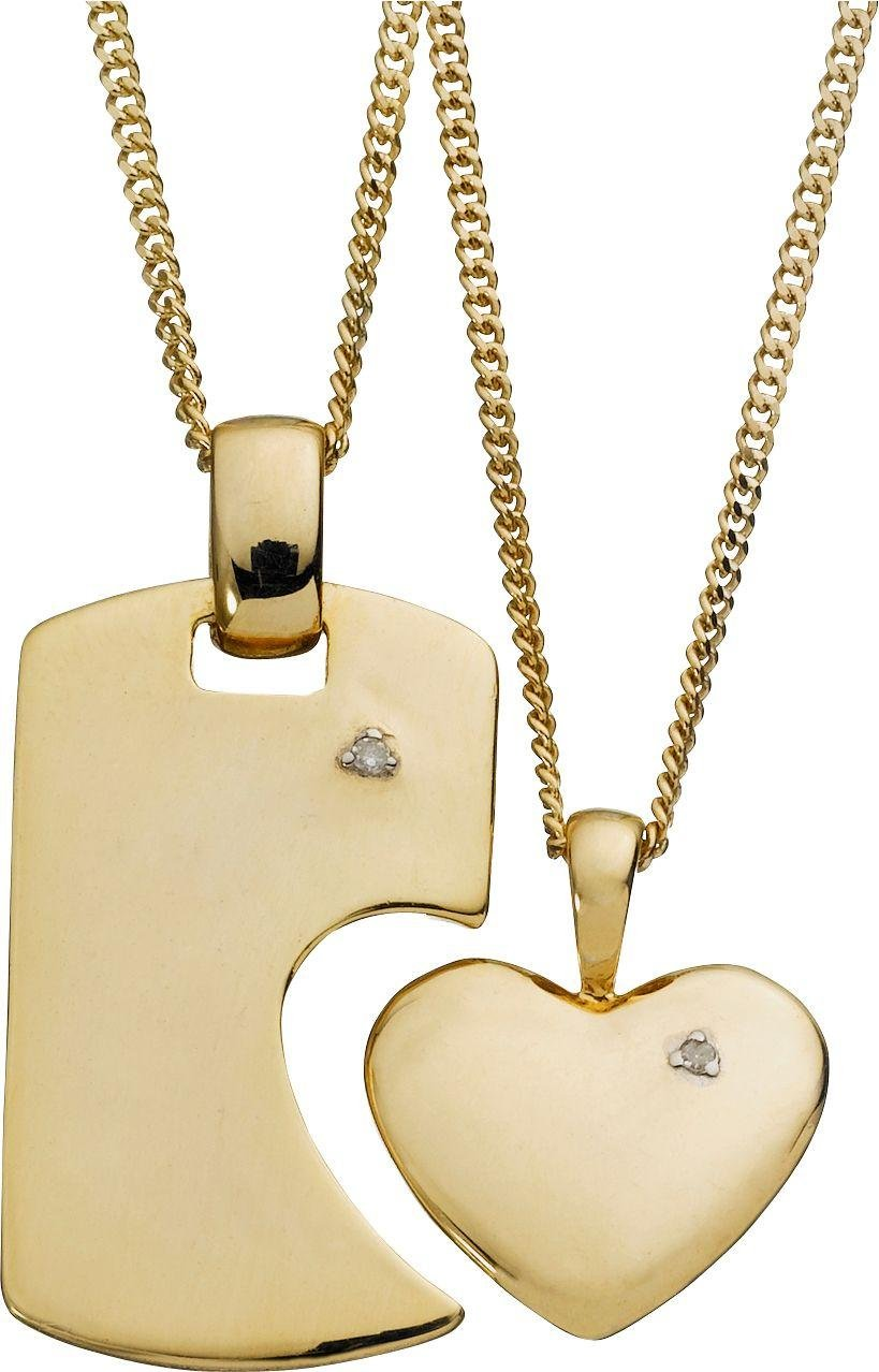 Sale On 9 Carat Gold Plated Silver His And Hers Love