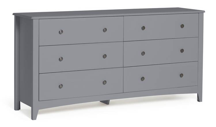 Habitat Minato 6 Drawer Chest - Grey