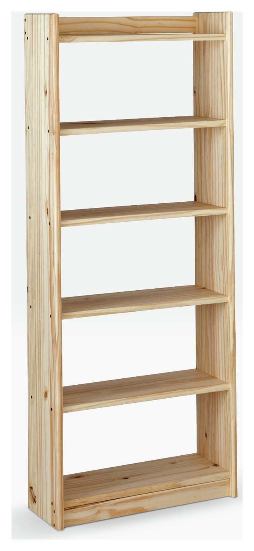 Argos Home Unfinished 6 Shelf Solid Pine Storage Unit