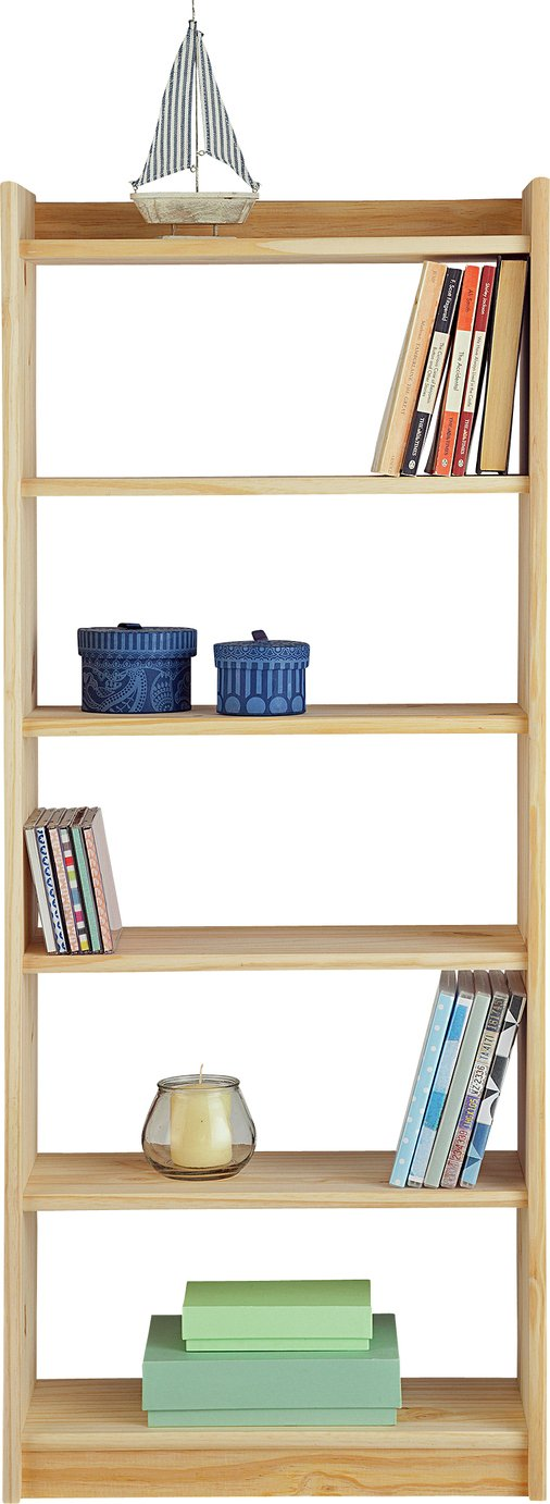 home unfinished 6 shelf solid pine storage unit