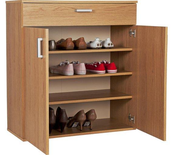 buy home venetia shoe storage cabinet oak effect at. Black Bedroom Furniture Sets. Home Design Ideas