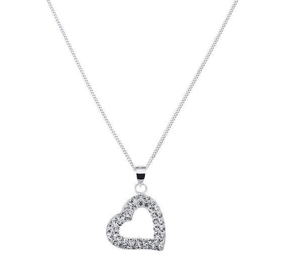 Buy revere sterling silver floating crystal heart pendant at argos revere sterling silver floating crystal heart pendant mozeypictures Image collections
