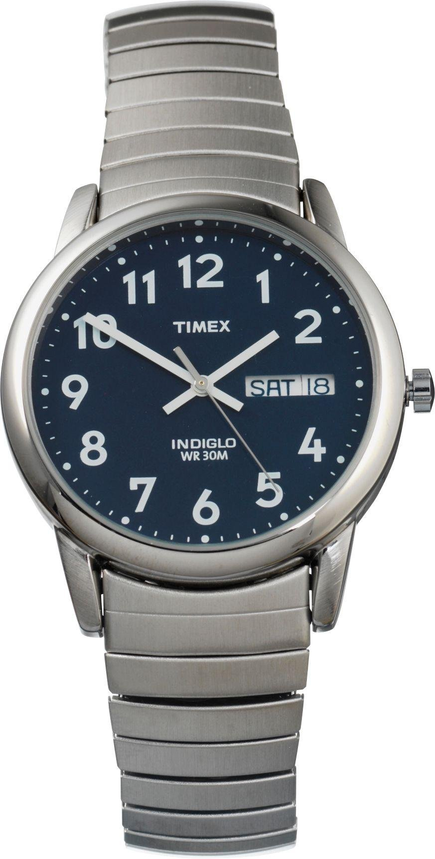 Timex - Mens Classic Indiglo Blue Dial Expander - Watch lowest price