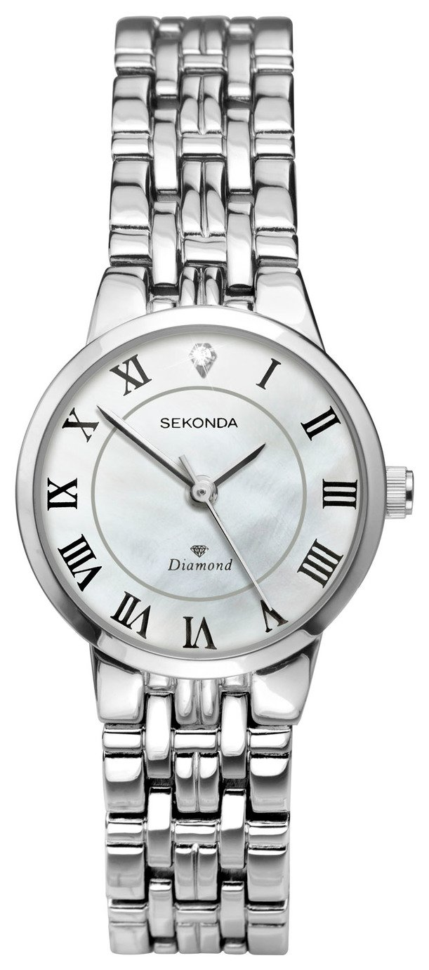 Sekonda Ladies' Diamond Set Bracelet Watch