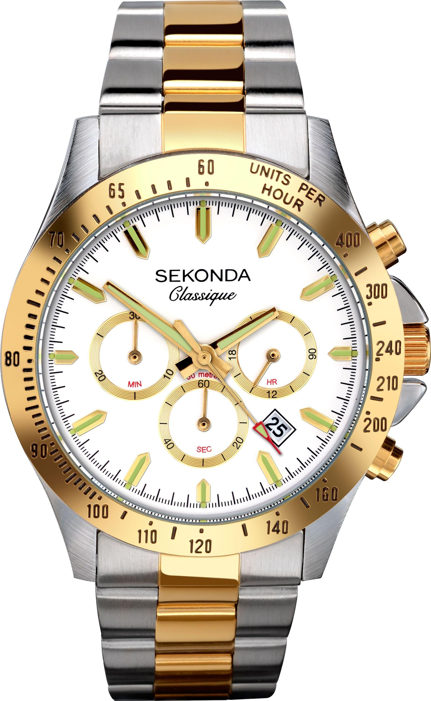 Sekonda Classique Men's Two Tone Steel Chronograph Watch