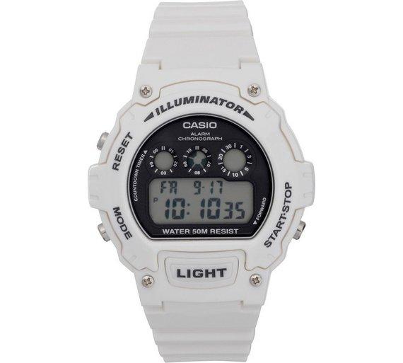 buy casio men s white digital illuminator lcd watch at argos co uk casio men s white digital illuminator lcd watch907 3351
