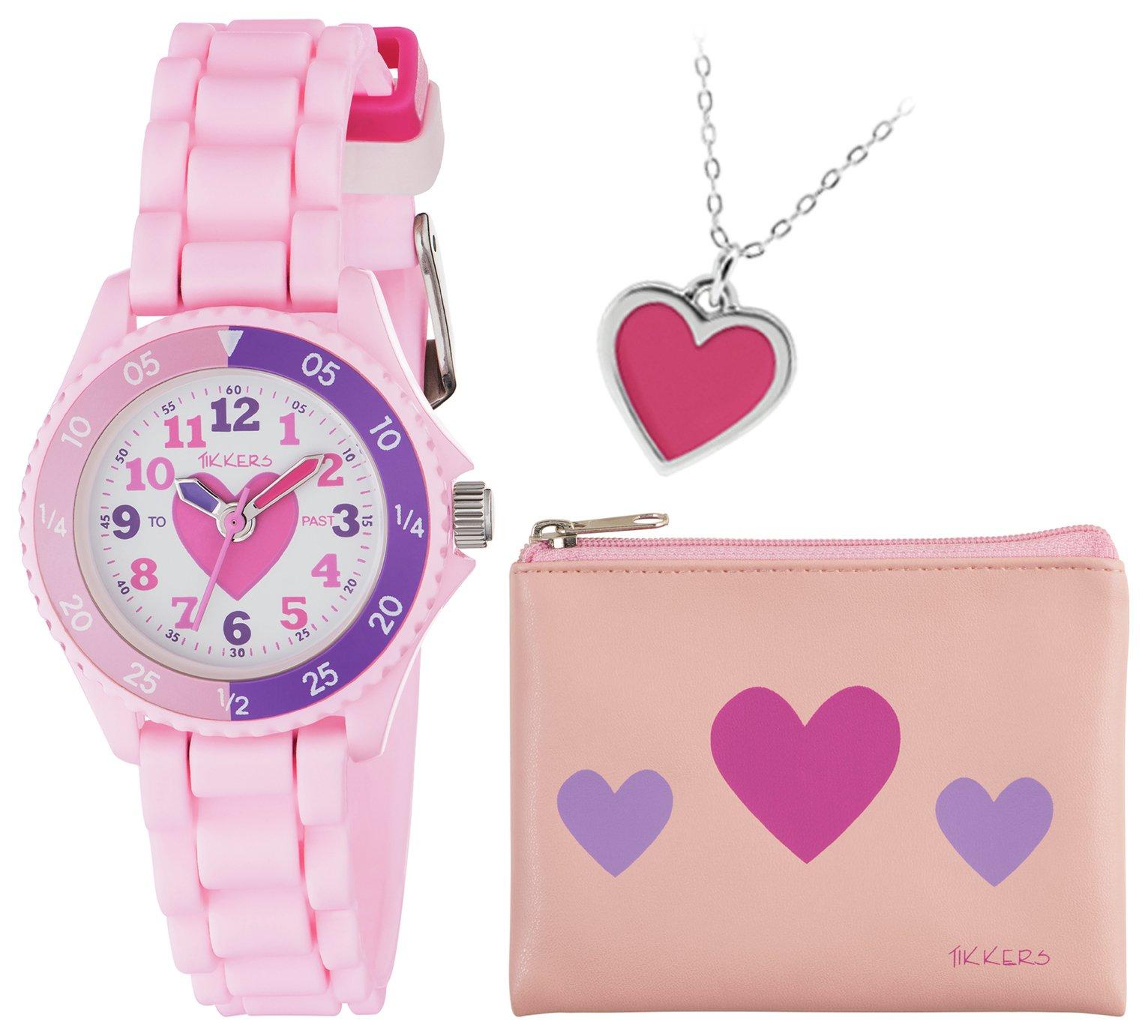 Tikkers Pink Time Teacher Watch Set