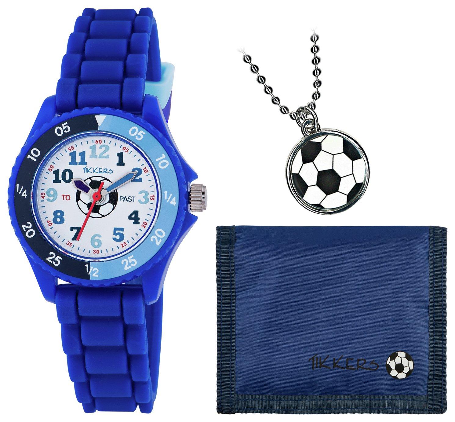 Tikkers Blue Football Watch Set