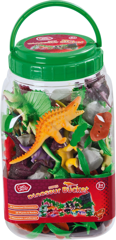 Chad Valley 50 Piece Dinosaur Bucket