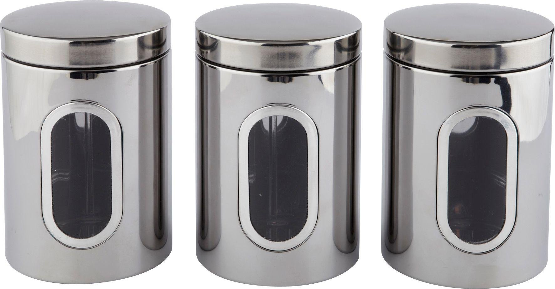 Image of HOME - Airtight Stainless Steel Storage Canisters