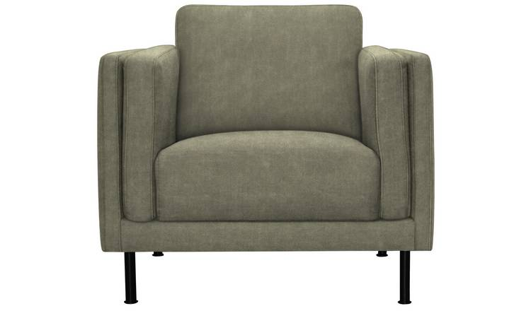 Argos Home Hugo Faux Leather Armchair   Grey by Argos
