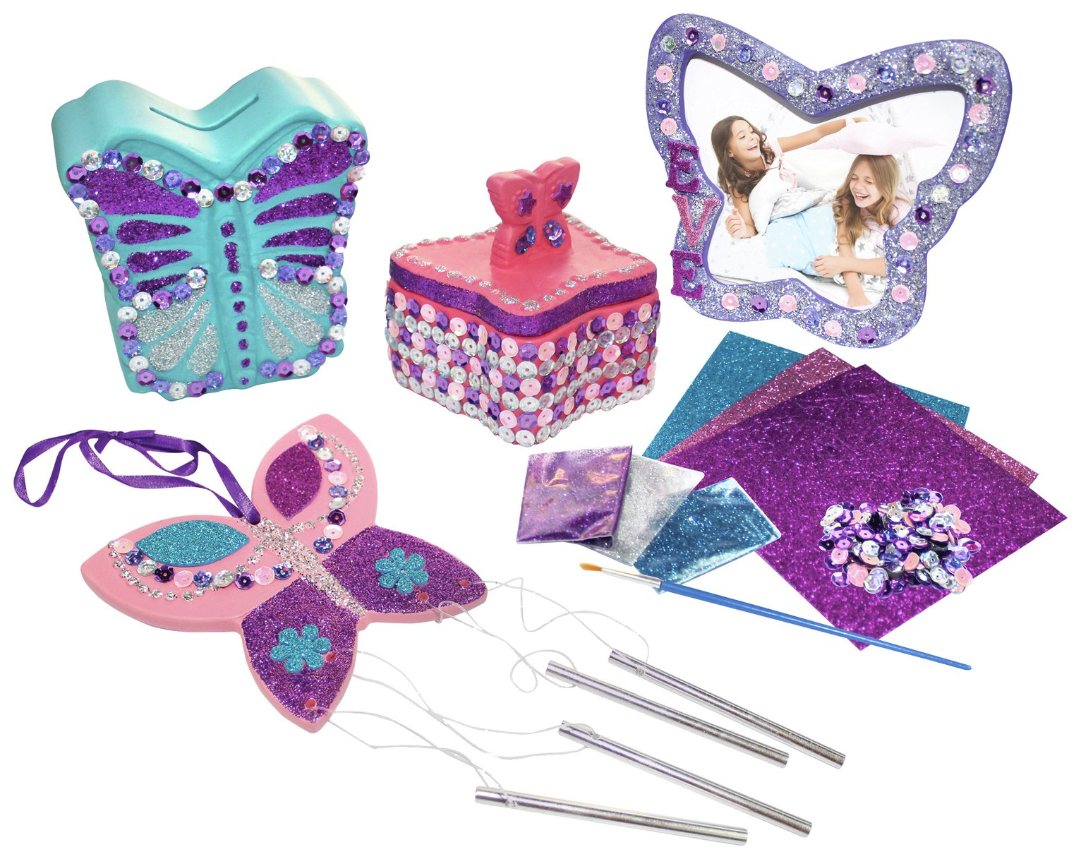 Chad Valley Be U Butterfly Ceramic Set