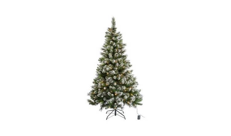 Buy Argos Home 6ft Pre Lit Snow Tipped Christmas Tree Green Christmas Trees Argos