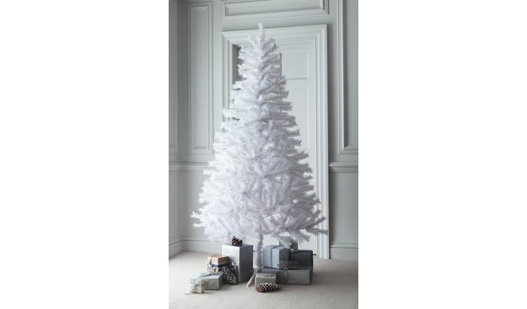 Pvc Christmas Tree Plans.Buy Argos Home 6ft Lapland Christmas Tree White Artificial Christmas Trees Argos