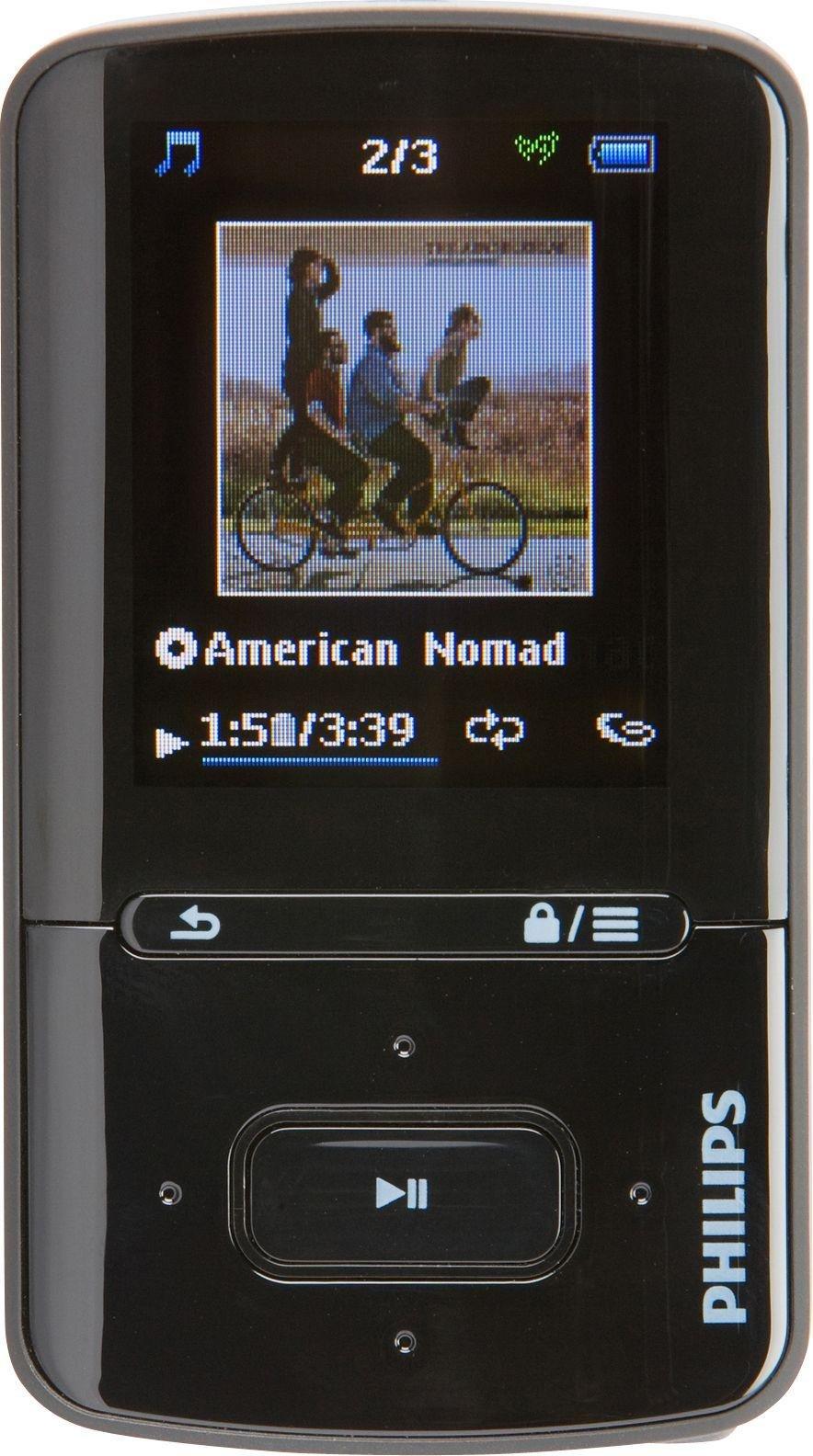Philips SA4VBE08KN/12 GoGear VIBE 8GB MP3/MP4 Player - Black