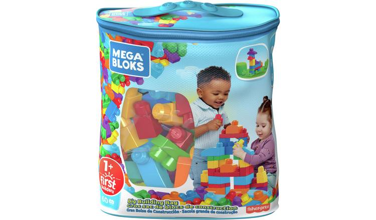 Mega Bloks 60 Piece First Builders Big Building Bag- Classic
