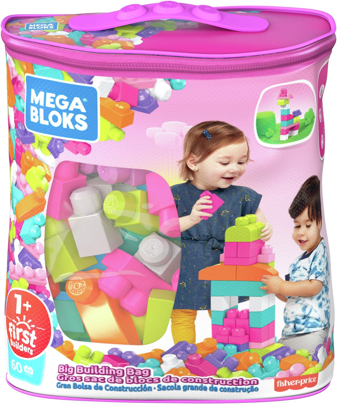 Mega Bloks - First Builders Big Building Bag - Pink