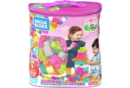 Mega Bloks First Builders Big Building Bag - Pink.