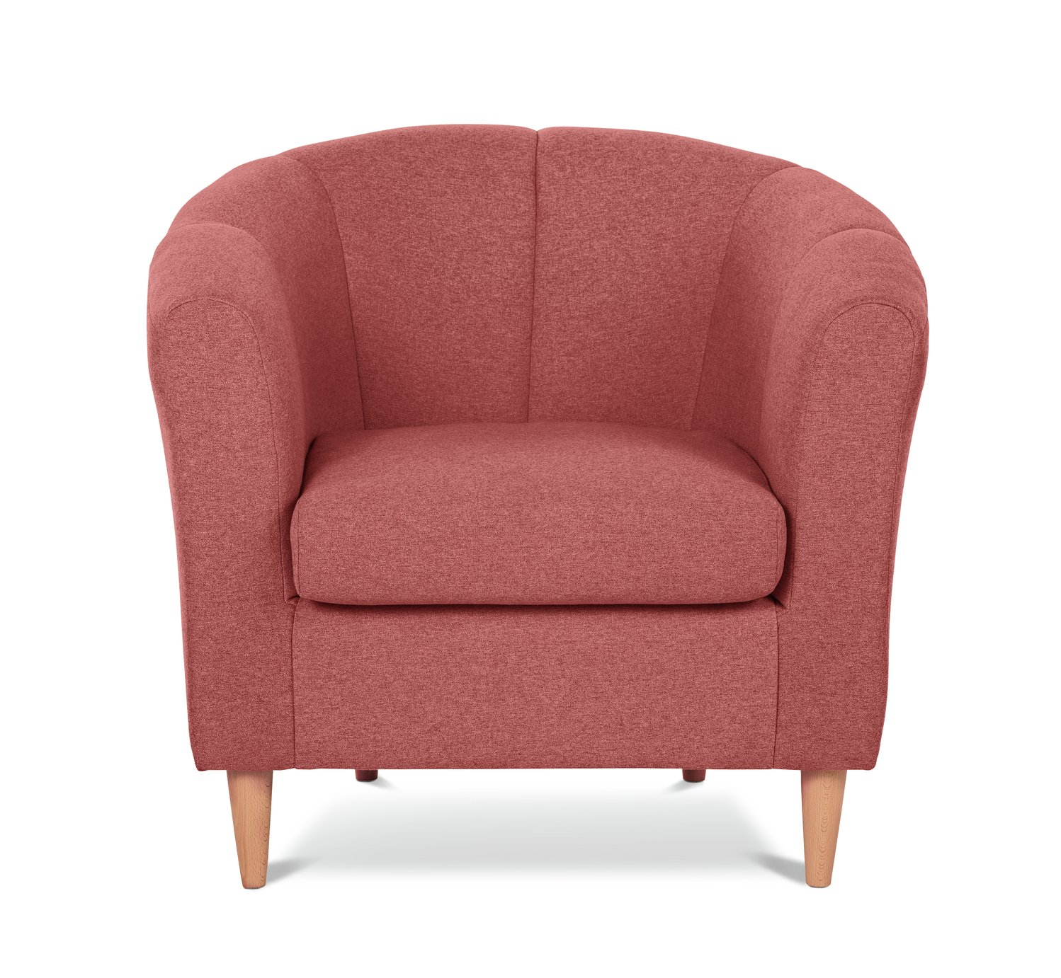 Argos Home Ayres Fabric Tub Chair - Coral