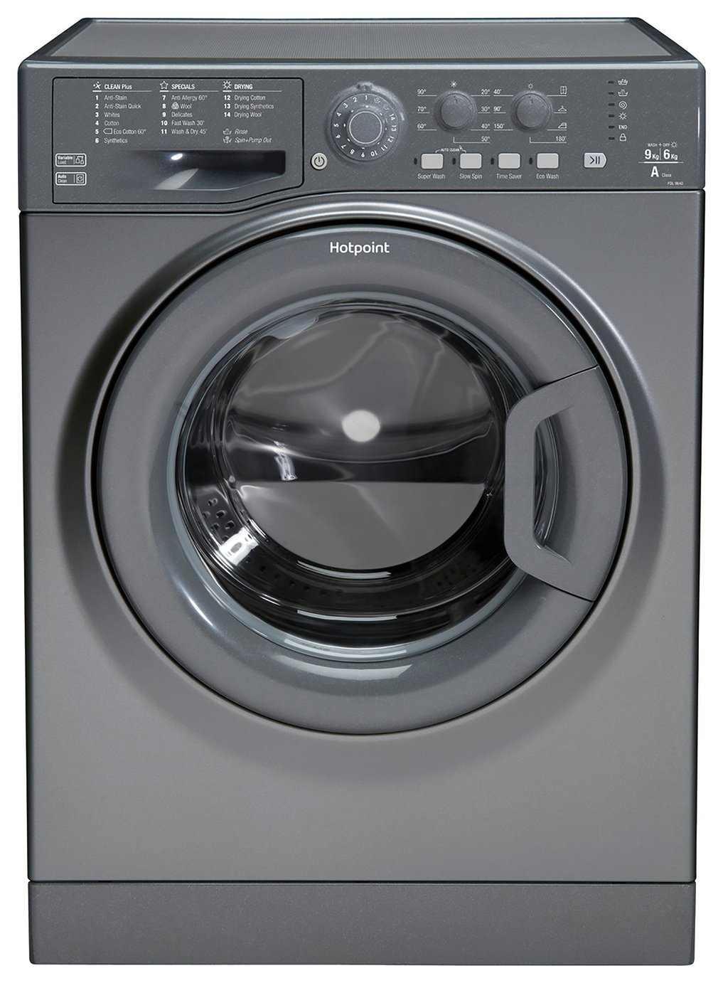 Hotpoint FDL9640GUK 9KG / 6KG 1400 Washer Dryer - Graphite