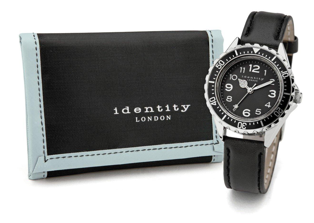 Identity London Black Sports Watch Set