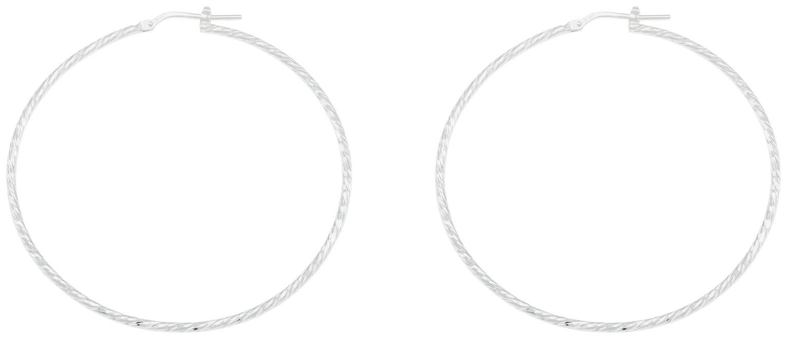 Revere Sterling Silver Large Hoop Earrings