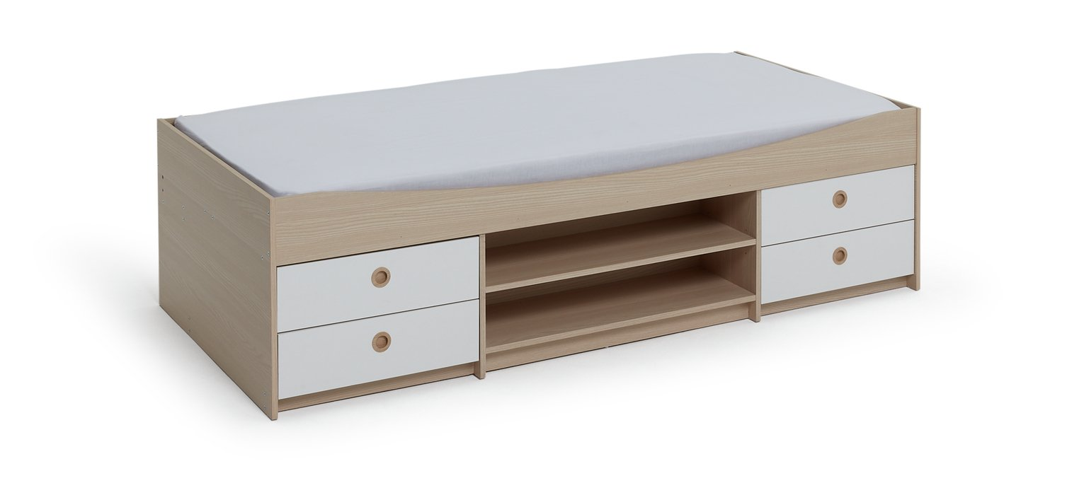 Argos Home Camden White & Acacia Cabin Bed