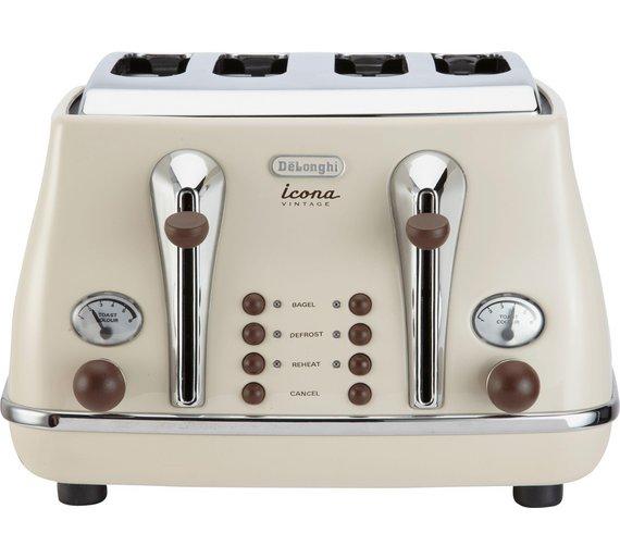 DeLonghi 4 Slice Vintage Icona Toaster