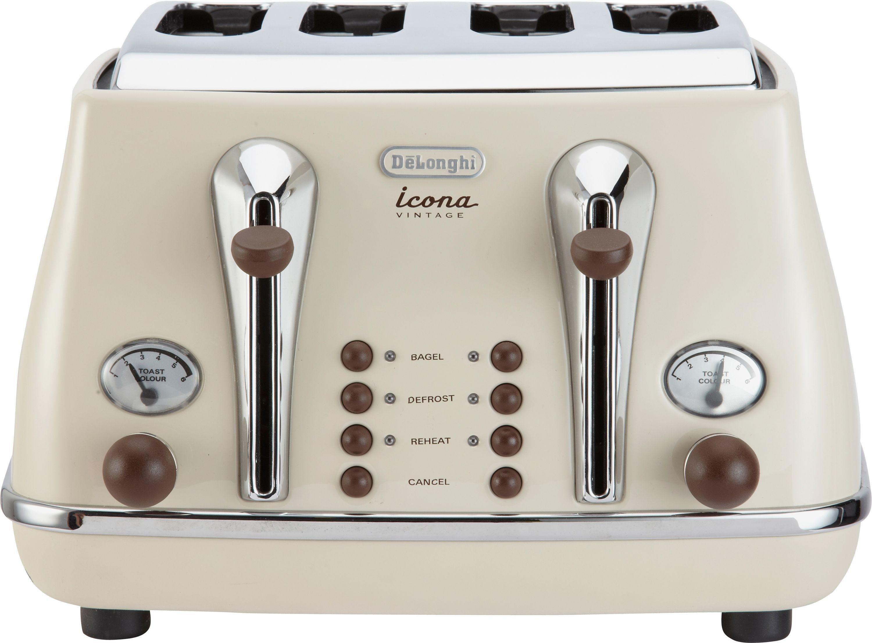 Buy De Longhi 4 Slice Vintage Icona Toaster Cream at Argos