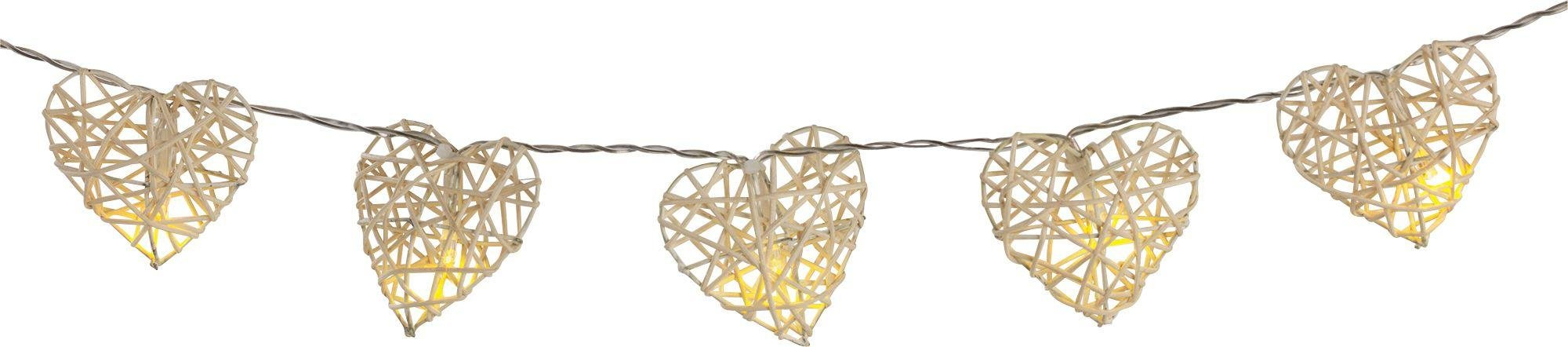 HOME - Rattan Hearts String Lights - Set of 20 lowest price