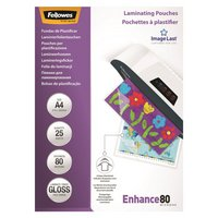 Fellowes A4 80mic Laminating Pouches - 25 Pack