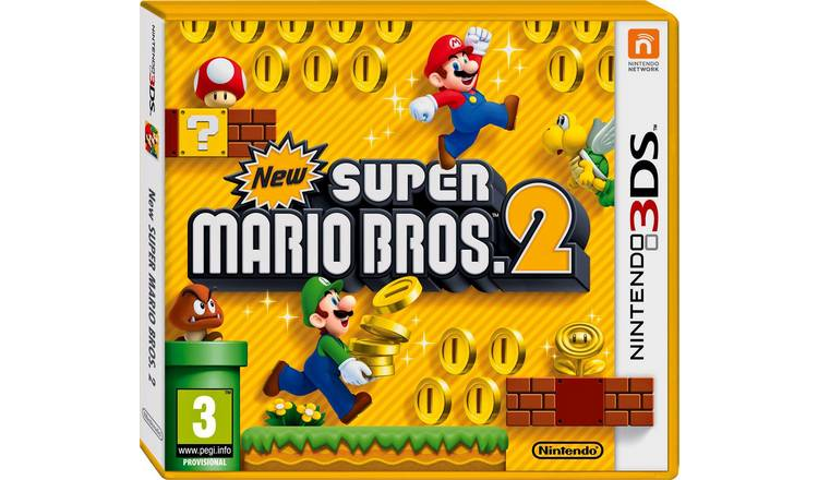 Buy New Super Mario Bros 2 3DS Game | Nintendo 2DS, 2DS XL and 3DS games |  Argos
