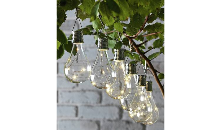 Habitat Set of 6 Solar Lightbulb Lanterns