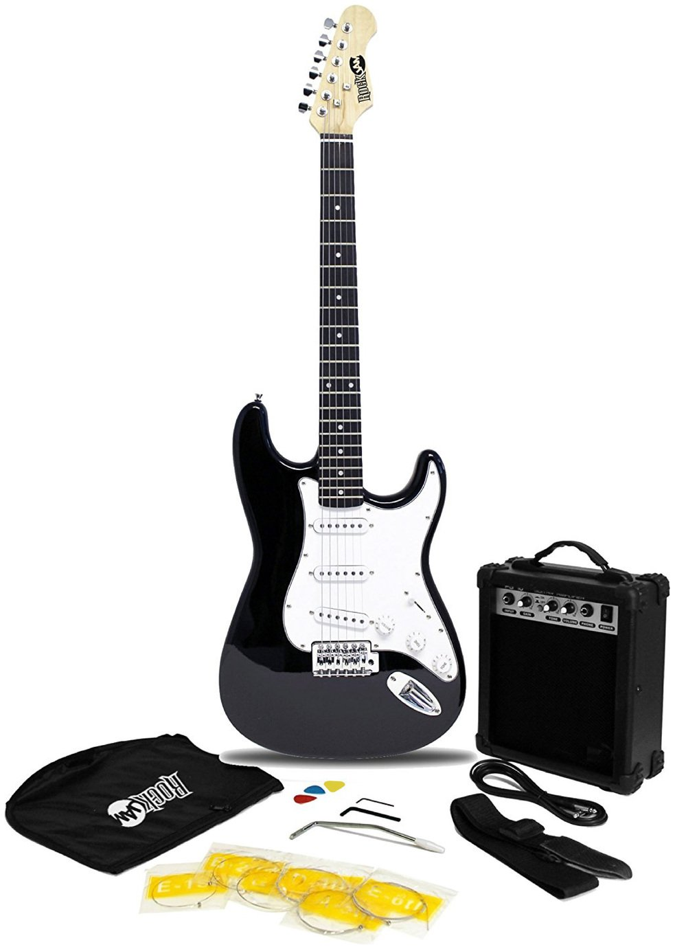 RockJam Electric Guitar Kit With Amp & Tuner - Black