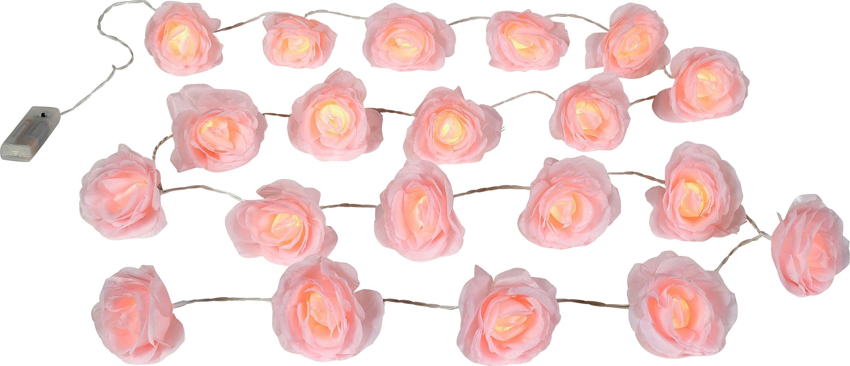Argos Home Set of 20 Rose LED String Lights - Pink
