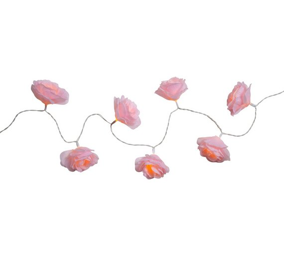 Buy argos home set of 20 rose led string lights pink novelty click to zoom mightylinksfo