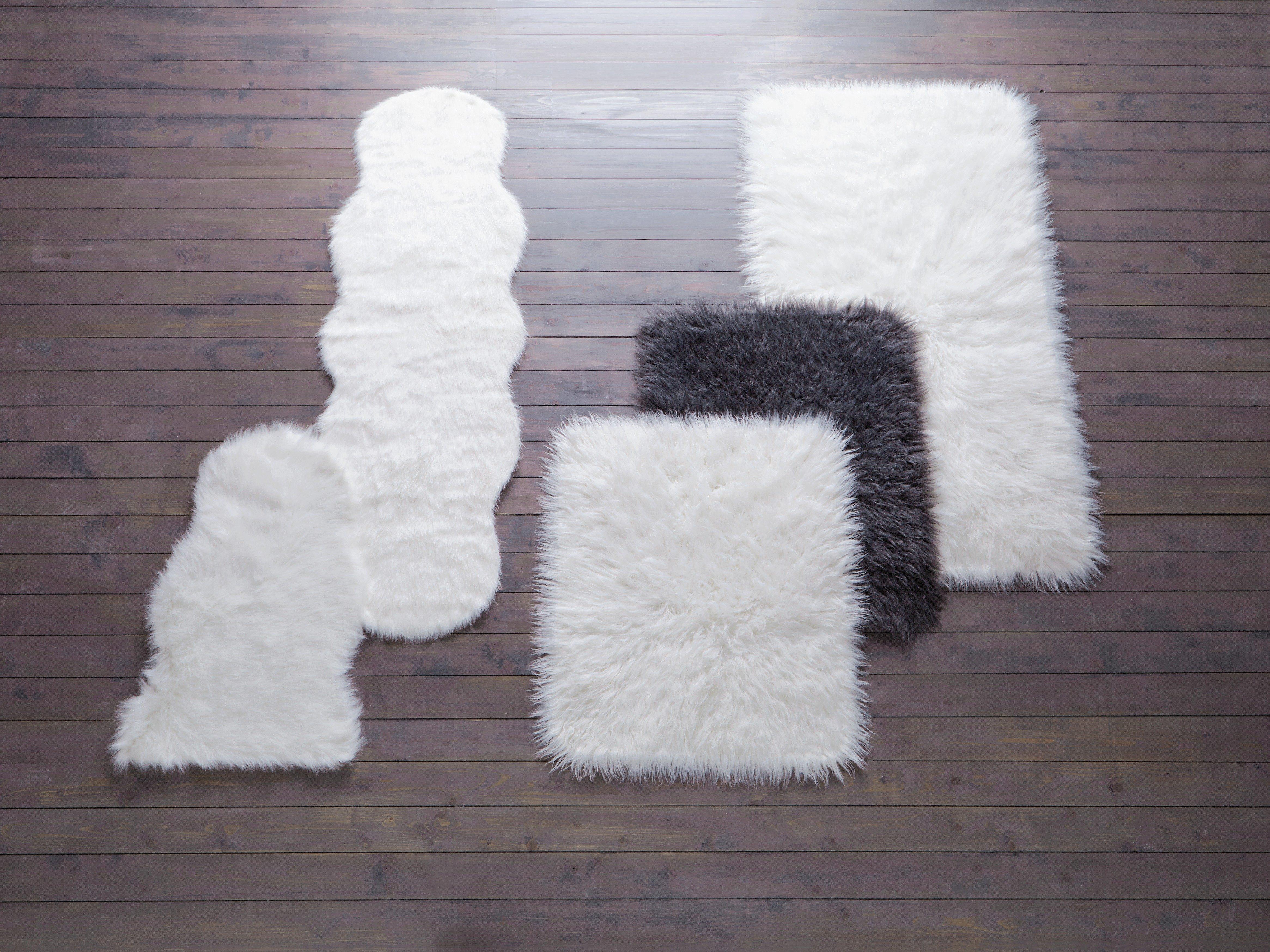 buy home faux sheepskin rug - 60x90cm - natural at argos.co.uk