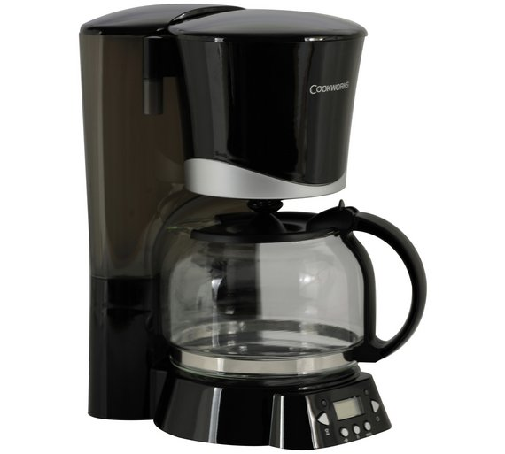 Argos Coffee Maker With Timer : Buy Cookworks Filter Coffee Maker - Black at Argos.co.uk - Your Online Shop for Coffee machines ...