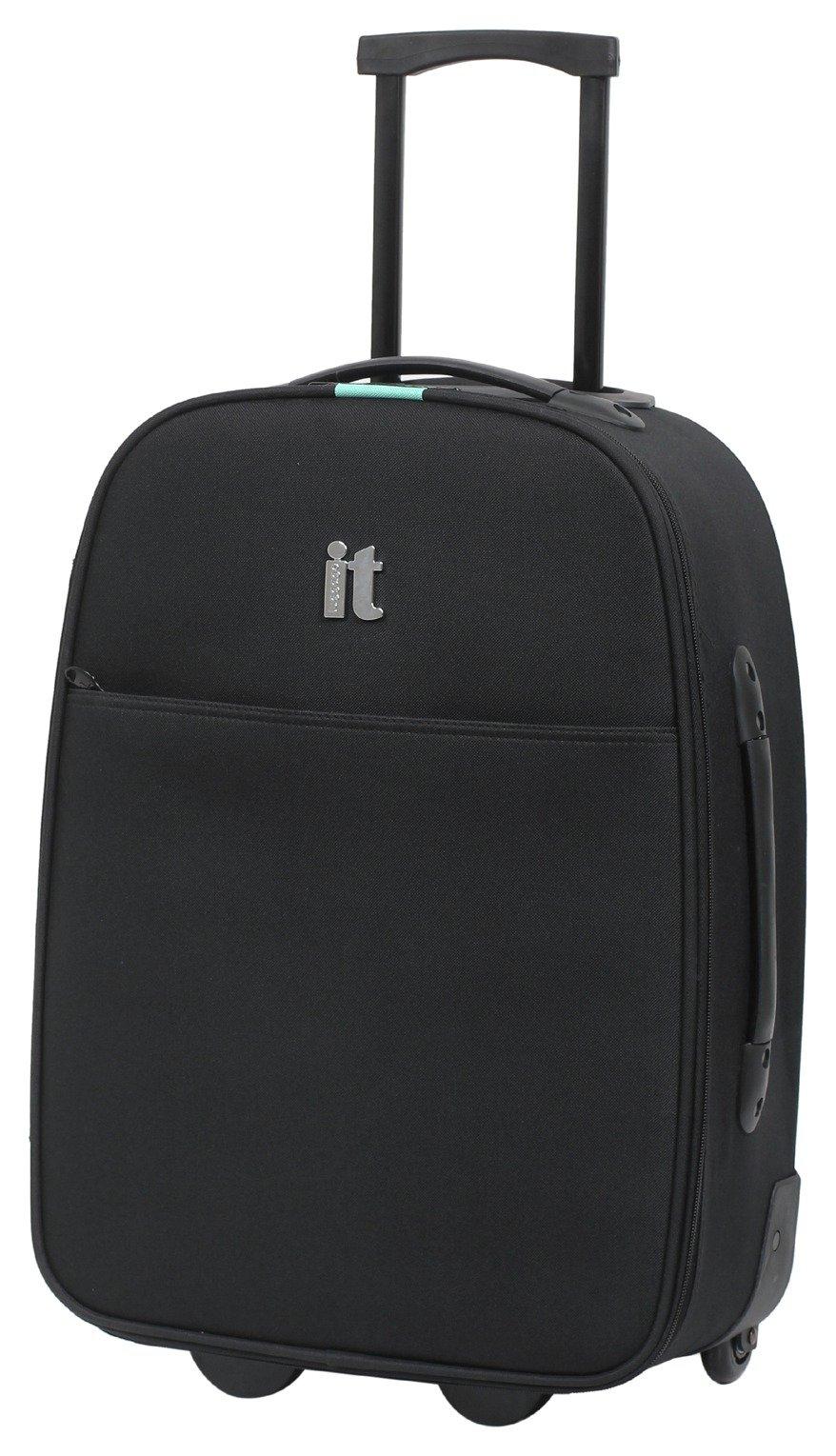 it Luggage 2 Wheel Soft Cabin Suitcase - Black