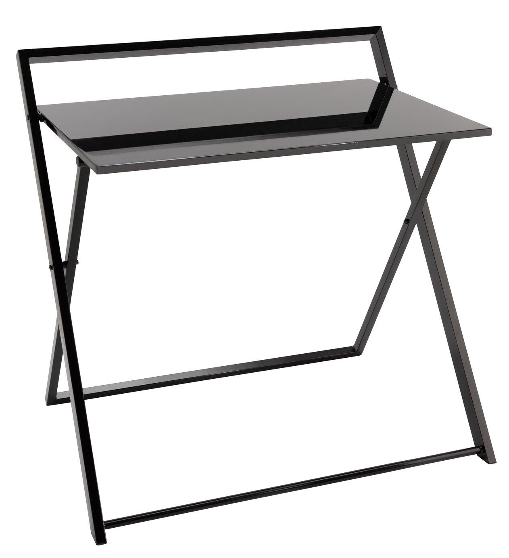 Habitat Compact Folding Office Desk - Black