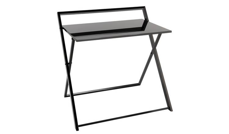 Habitat Compact Folding Office Desk - Black