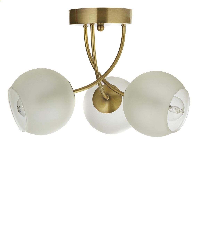 Argos Home Elsie 3 Light Ceiling Light - Antique Brass
