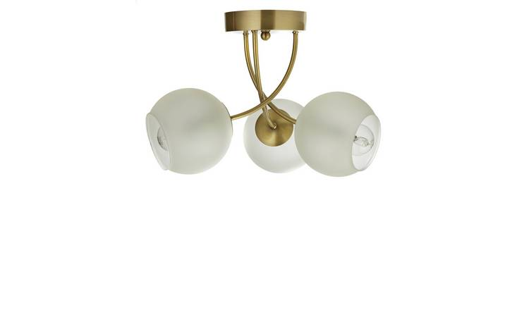 Argos Home Elsie 3 Light Ceiling Light - Antique Brass