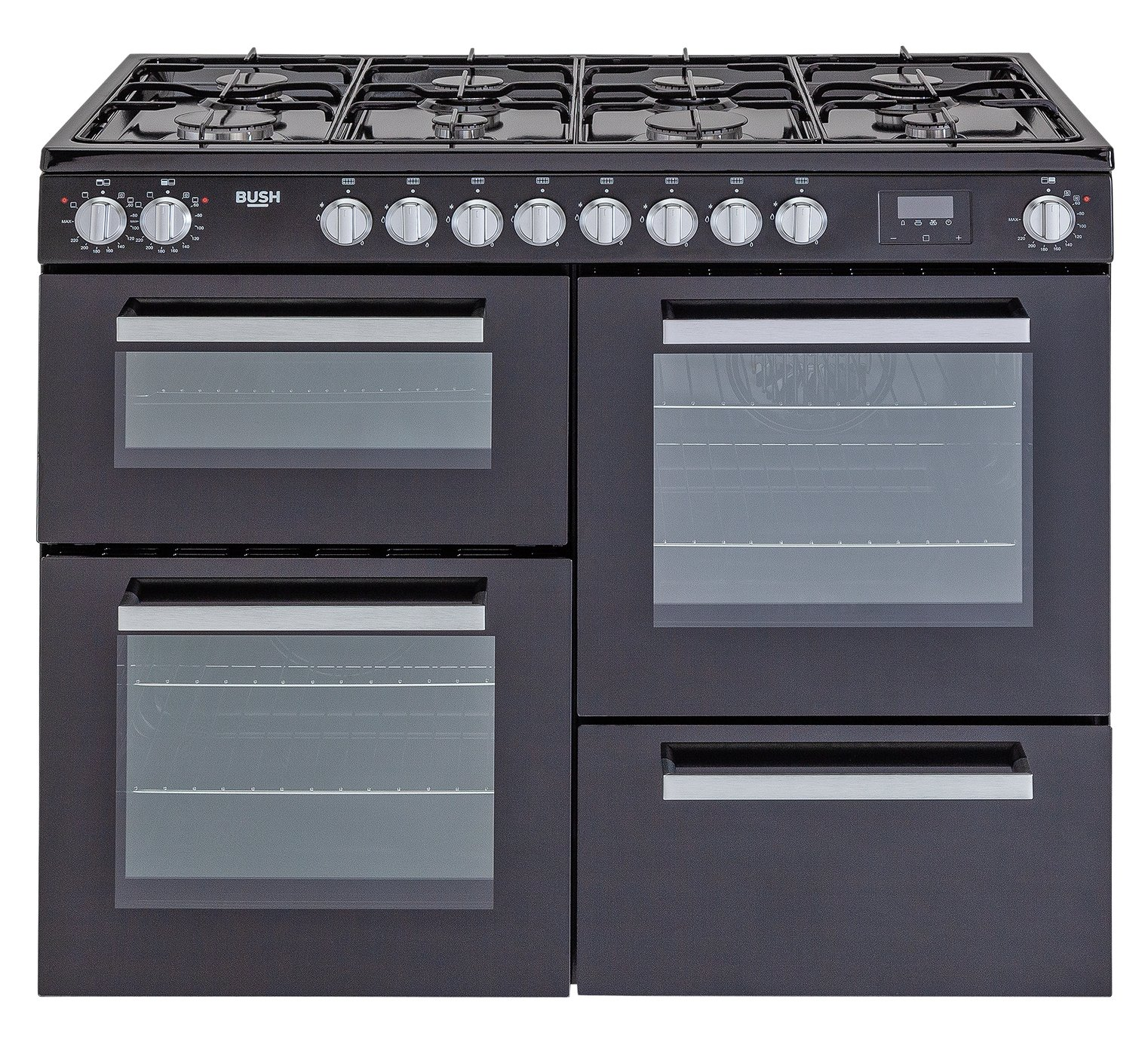 Bush BRC100DHMB 100cm Dual Fuel Range Cooker - Black