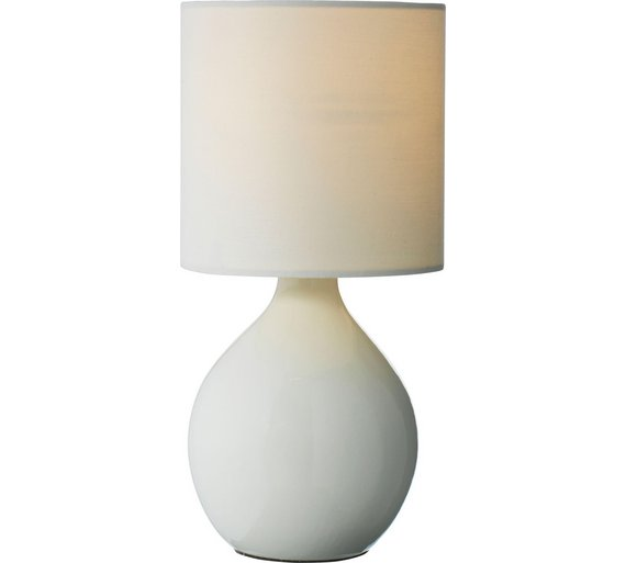 Buy home round ceramic table lamp cotton cream table lamps argos home round ceramic table lamp cotton cream mozeypictures Choice Image
